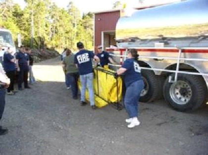 Carrying Tarp for Tanker Drill