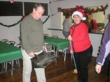 Cleaning Up the Christmas Party