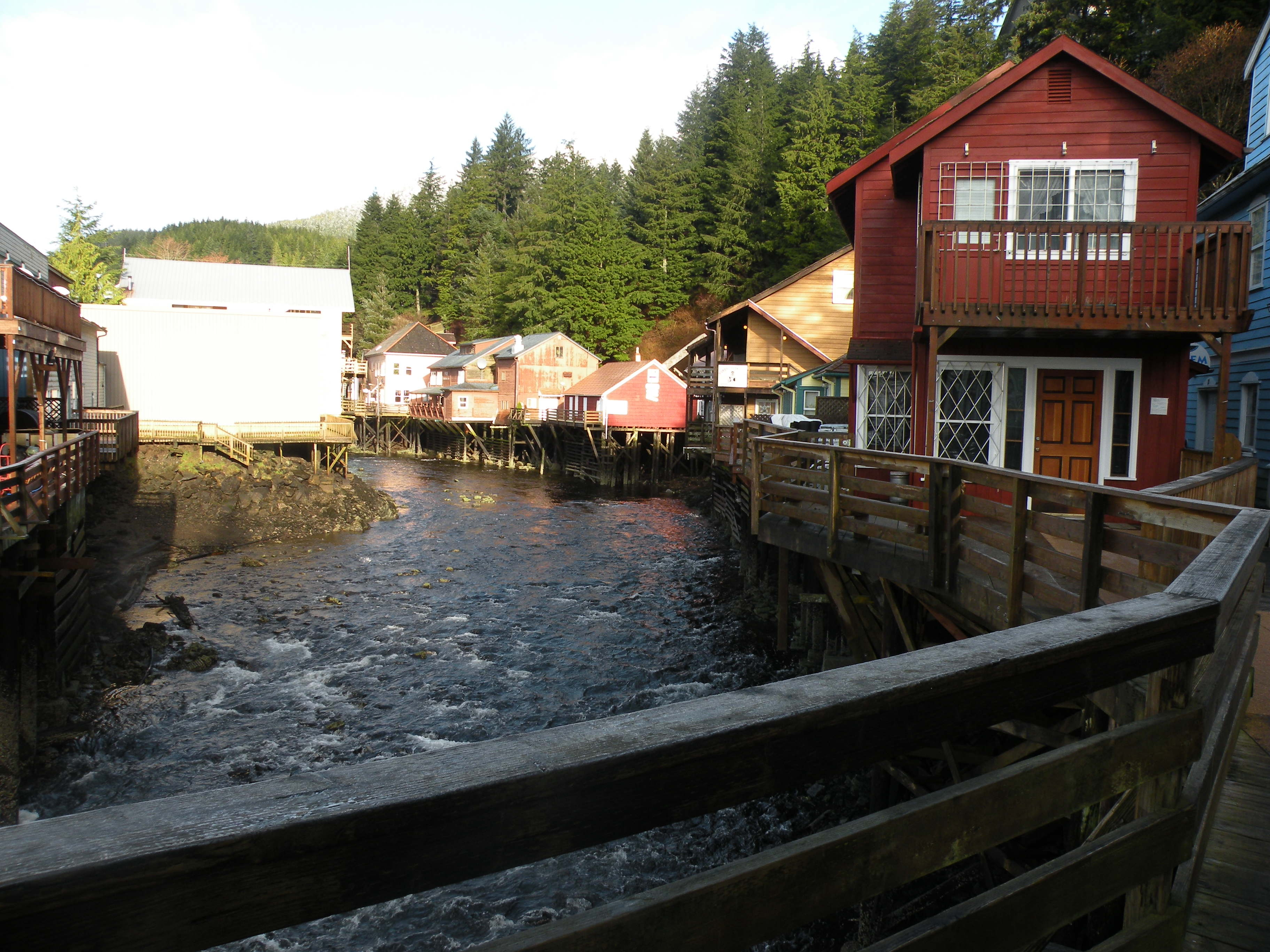 Ketchikan Creek at creek street